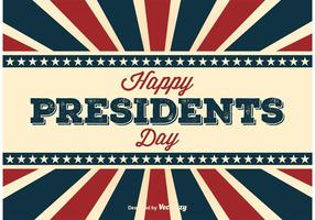 Retro Presidents Day Poster