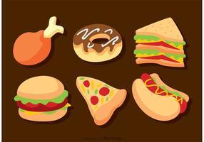 Vetores deliciosos de fast food