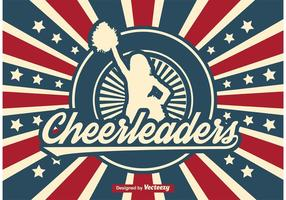 Retro Cheerleader Illustration