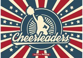 Retro Cheerleader Illustration