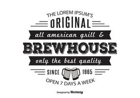Modelo do logotipo de Brewhouse Griil
