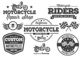 Motorcycle Vector Labels / Elements