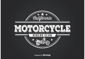 Design da camisa do clube da motocicleta