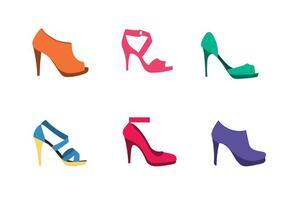 Sapatos femininos de vetores grátis