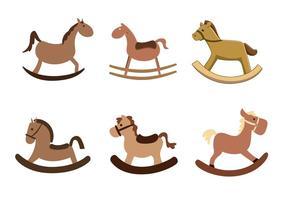Vektor gunga hästar