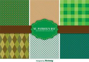 St. Patrick's Day Pattern Set vector