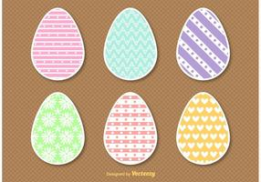 Flat Style Easter Egg Vectors