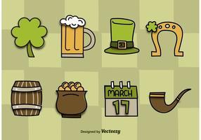 Icônes vectorielles de Saint Patrick's Day