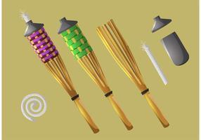 Vecteurs Torch Tiki