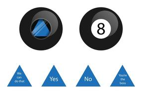 Vector Magic 8 Ball Elemente