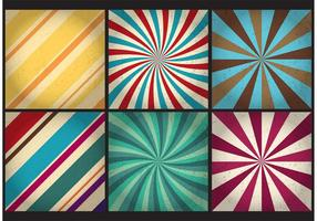 Retro backgrounds di vettore dello sprazzo di sole