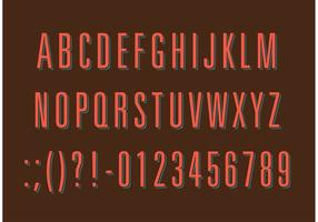 Thin Retro Type Vectors
