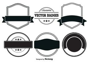 Modèles de badges vectoriels