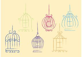 Libre Sketchy Vector Bird Cage