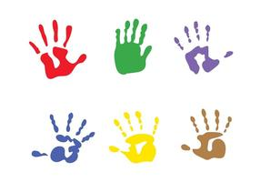 Vector kind handprints
