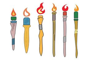 Vector Tiki Torches