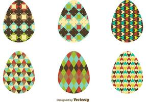 Mönster Textured Easter Egg Vectors