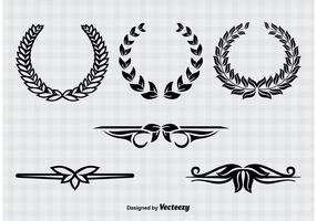 Wreaths and Text Divider Vectors