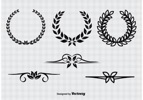 Vintage Wreaths & Dividers vector