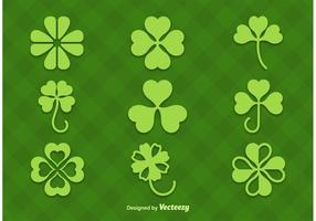 Clovers Vector Silhouettes