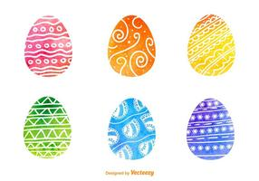 Vectores de huevos de Pascua de Watercolored