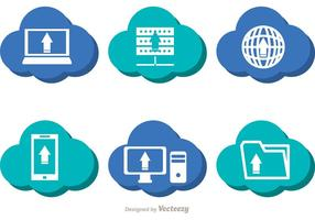 Blauwe cloud computing vectoren