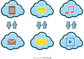 Upload Download Cloud Vectors