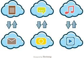 Upload Download Cloud Vectors