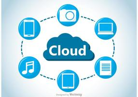 Cloud computing koncept vektor