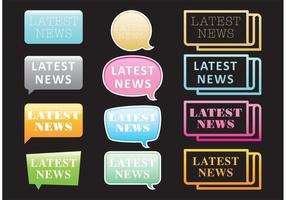 Neon Neueste Nachrichten Vektoren