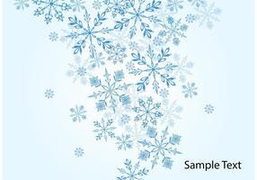 Fond de vecteur de flocon de neige d'hiver
