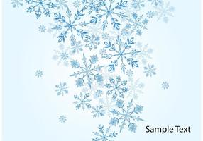 Winter Sneeuwvlok Vector Achtergrond