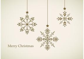 Hanging Snowflake Vector Background