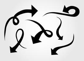 Iconos de flecha curvada de vector