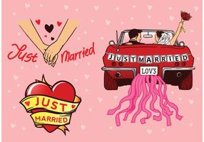 Just-married-vectors