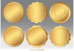 Gold Seal Vector Set