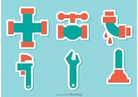 Vecteurs d'autocollants pour tuyaux d'égout