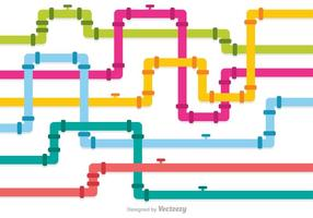Multicolor Sewer Pipeline Vectors