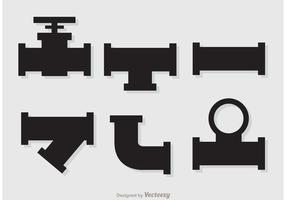 Vecteurs de pipeline d'égout Silhouette