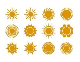 Summer Sun Vector Flat Icons