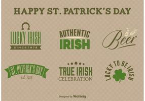 St. Patrick's Day Label Vectors