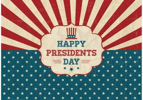 Fri Happy Presidents Day Retro Vector Poster