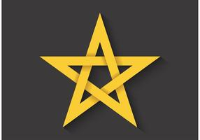 Pentagram de Ratio de Ouro Vector Gratuito