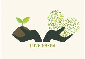 Conceito de mãos livres de jardinagem vetorial