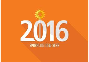 Free Creative New Year 2016 Vector Design