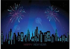 Free Cityscape Mit Feuerwerk Vektor