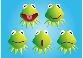 Kermit la Rana Vectores Rostro