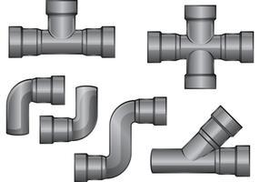 Vecteurs de tuyaux d'égout