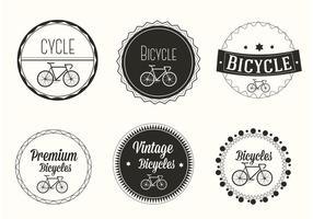 Vector libre de las etiquetas de la bicicleta