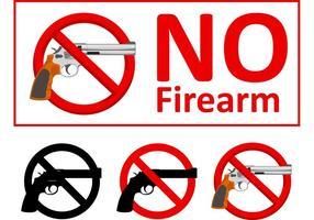 No hay armas de fuego signo vectores